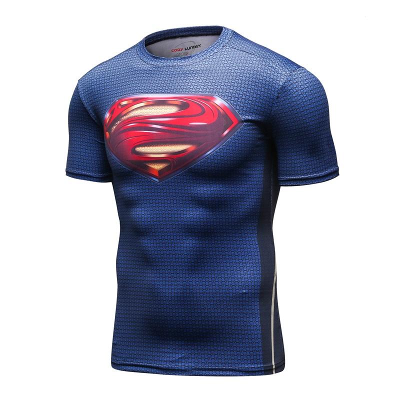 Elastische-M-nner-3D-Druck-Marke-Kurzarm-t-shirt-M-nner-Superman-MMA-Mode-Freizeit-Fitness