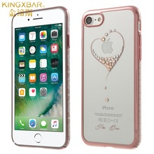 KINGXBAR for iPhone 7 Cover Swarovski Crystal Fashion Hard PC Case for iPhone 7 4.7 Inch(China)