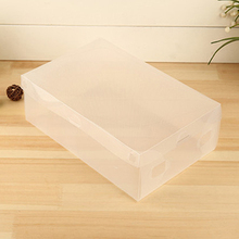 10 x Clear Plastic Shoe Storage Transparent Stackable Foldable Tidy Organizer Box Store 48(China)