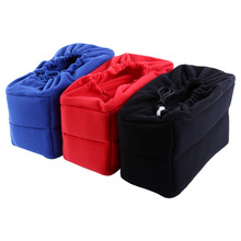 Universal Camera Insert Partition Padded DSLR Camera Bag Shockproof Sleeve Cover For Nikon Canon Camera Bag