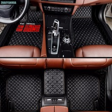 ZHAOYANHUA Special car floor mats for Mercedes Benz A B180 C200 CL CLA G GLK300 ML class leather Anti-slip car-styling carpet li(China)