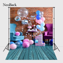 NeoBack Thin vinyl cloth New Born Baby Photography Backdrop children kids backdrops Printing Studio Photo backgrounds P1453(China)