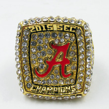 2016 New Arrival NCAA 2015 Alabama Crimson Tide Football National Championship Ring Replica Henry Drop Shipping(China)