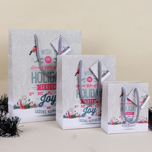 Merry Christmas Paper Gift Bag Special Gift Package for Holiday Party Color Art Hand Bag Festive Gift Wrap SD788