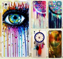 Colorful Multi Styles Dream Catcher Telephone Booth Letters Hard Phone Case Cover For HTC Desire 816 800 D816W Cases Skin Shell
