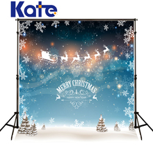 Kate Merry Christmas Backdrops Photography Snow Spot Milu Deer Elk Background Photo Sled Dream Wall Fotografia For Baby J02157