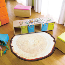 Antique Wood Tree Annual Ring Round 3D Carpet for Bedroom Computer Chair Area Rugs Kids Bedroom Play Mat Coffee Table Mats -A(China)