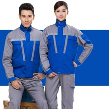 Long-sleeved overalls suit men and auto repair shop 4S shop maintenance work overalls fall and winter clothes protective clothin