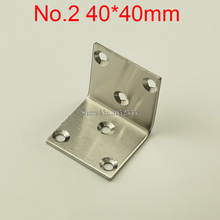 10PCS 40*40mm stainless steel furniture corners angle bracket L shape metal frame board support fastening fittings K272