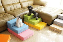15PT01 Colorful Pet Furniture Pet Dog Stairs Puppy Anti-slip Pet Stairs Folded Stairs 2-step Dog Stairs 1PC(China)