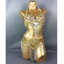 hot selling belly dancing suite belt+bra+arm band for gift USA bra size 34B,36B,38B,40B,34D,36D,38D,40D,42D(China)