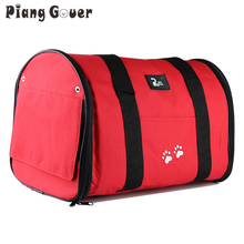 Fashion Rose Red Size M/L Pet Dog Cat Puppy Portable Travel Carrier Tote Bag Handbag Crates Kennel Luggage Oxford