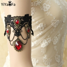 YiYaoFa DIY Gothic Jewelry Lace Arm Accessories Women Arm Bangles Handmade Summer Fashion Girl Party Jewelry AT-21