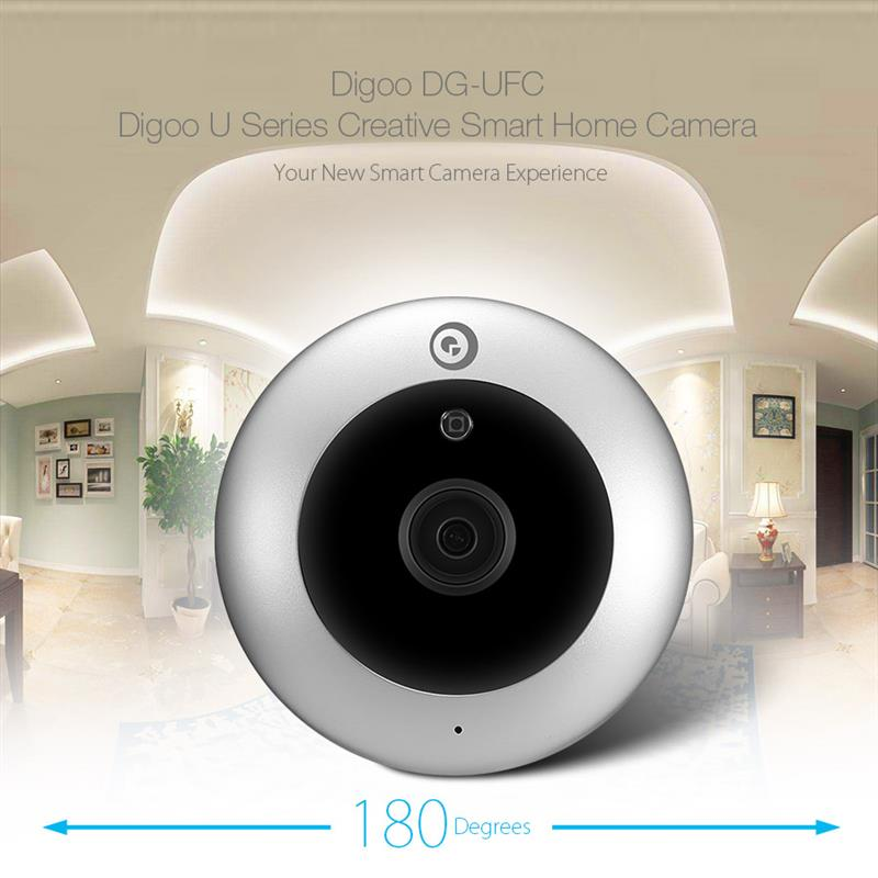 DIGOO DG-UFC H.265 HD 1080P 2.8mm 180 Degree Wireless WIFI Night Vision Smart IP Security Camera Baby Monitor