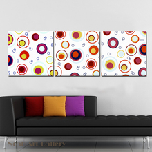Colorful Circle Modern Abstract Painting Wall Pictures Waterproof High Definition Print on Canvas Baby Room Decoration Pictures