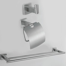 Free Shipping 304# Stainless Steel towel rack paper holder robe hook Hardware Sets stainless steel bathroom set SUS00C