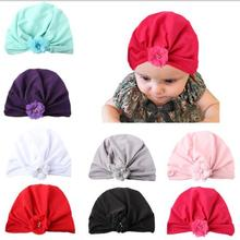 10pcs baby turban hat with knot turbans for baby girls hats Toddler Flower beanie cap Photography Props