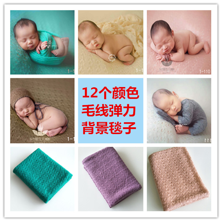 Fashion Newborn Baby Photography Props Floral Wrap Blanket Decorative Baby Shooting Flower Mat Retro Infant Photo Accessories 6