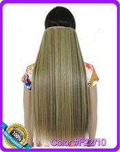 24inch 60cm 130g straight hair extension Heat resistant synthetic clip in hair extensions Color #F22/10