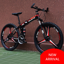 New Brand Mountain Bicycle Carbon Steel Frame 21/24/27 Speed 26 inch Wheel Disc Brake Folding Bike Outdoor Sport Bicicleta(China)