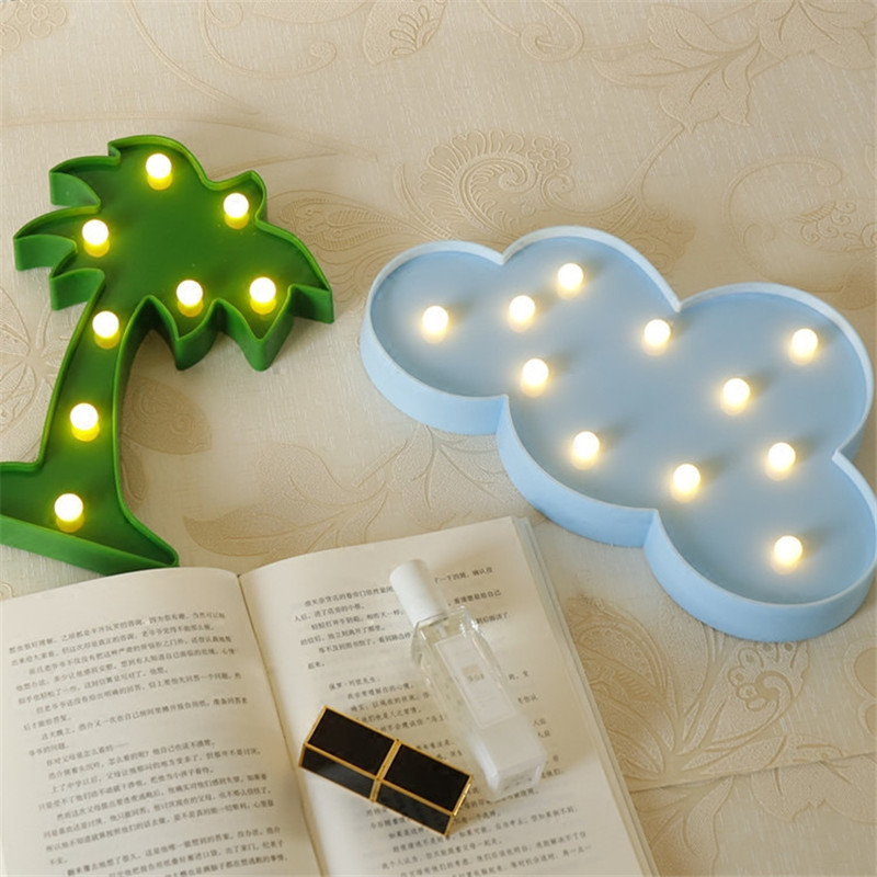Flamingo Unicorn LED Light Baby Shower Wedding Party Home Kids DIY Decoration Star Heart Pineapple Christmas Tree 3D Desk Lamp,8 11