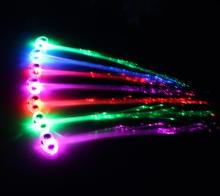LED Colour Flash Braid Light up Stylish Fibre Braids Hair Extension Disco Night Club Concert Dancing Rock Party Atmosphere props