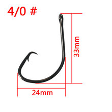 pesca 50pcs High Carbon Steel Barbed Fishing Hooks Black Wide Gap Offset Sport Circle Bait River Ocean Boat Fishing Accessories