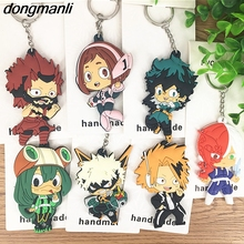 P1164 dongmanli Japanese anime My Hero Academia pvc silicone Sided car keychain Keyring Backpack pendant Cute character toy(China)