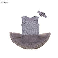 MILANCEL 2018 New Baby Girls Dress Mesh Baby Girls Birthday Dresses Sleeveless Girls Clothing Cute Girls Wedding Dresses(China)