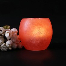 Crystal Himalayan Natural Salt Rock Night Light Night Lamp Tea Lights Candle Holder Glowing Attractive Air Purifying Night Lamp