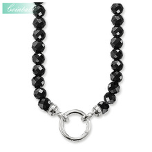 Necklace Black Beads Classic Gift For Women Men, Thomas Style Soul Jewelry TS 925 Sterling Silver Fashion Jewelry Wholesale(China)
