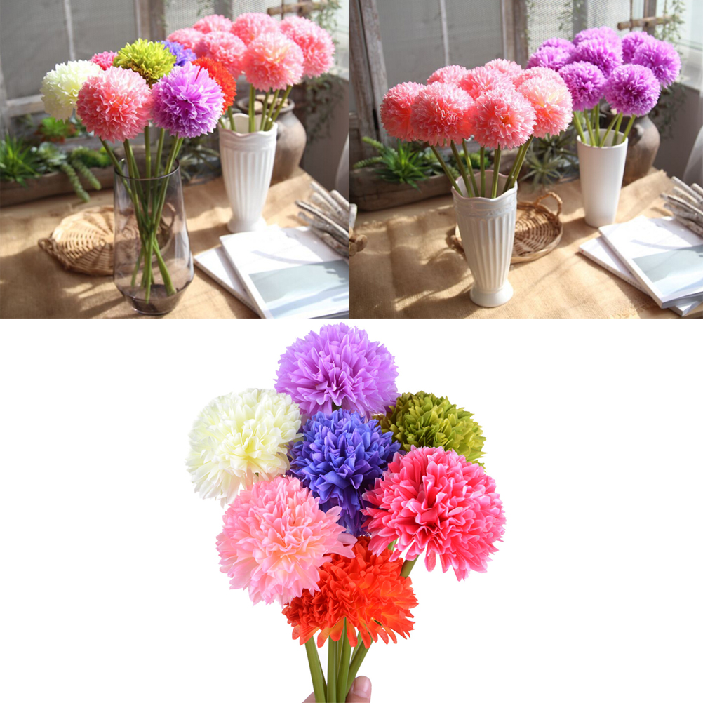 Pompoms silk flowers flowers bouquets hydrangeas artificial plastic flower cafe party wedding decoration Home decoration
