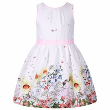 Flower Girl Dresses Summer Children Dress 2017 Brand Costume Robe Enfant Fille Flower Kids Clothes Party Dress hello kitty 2-10Y