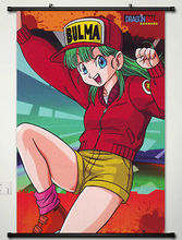 Home Decor Dragon Ball Bulma Briefs Wall Scroll Poster Fabric Painting -034