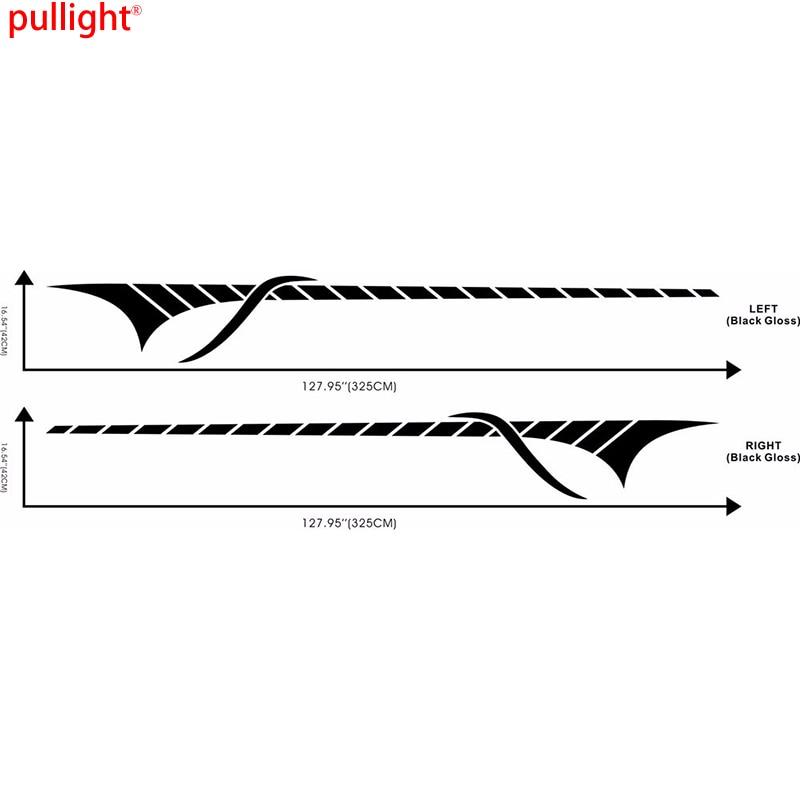 2x Car Styling Racing Stripe Upper Door Decals Vinyl Stickers Side Sticker<br>