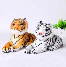 Kawaii Cute White Yellow 25cm Tigers Plush Toys Simulation Tigers Stuffed Dolls Baby Pillow Plush Kid Toys Gift