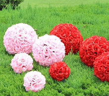 30cm Express Free Shipping Party decoration artificial rose flower ball wedding market hotel decorative flowers A5165(China)