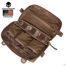 Emerson Tactical Multi-functional 500D Molle Pouch Utility Pouch Sundries Bag Hunting Waist EDC Bag Camo Black/Arid 32x18CM