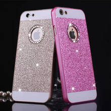 For iPhone 6 Case Luxury Bling Glitter Rhinestone Cases For iPhone 6s 7 6plus 5 5s 7 Fashion Diamond Hard PC Shining Cover Case(China)