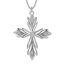 3 Style Silver Cross Pendant Necklace Fashion Jewelry cool street style Top quality Factory Outlet Free Shipping