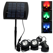 Portable Outdoor Solar Power LED Lights RGB/Cold White Led Landscape Light Solar Garden Lamp Waterproof IP68 Underwater Lights(China)