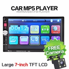 Car MP4 MP5 Radio audio Player 2 Din In Dash 7 Inch 7080B Touch Screen Auto bluetooth USB SD MP3 Rear View Camera autoradio 2din(China)