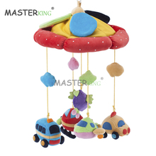 Cute Baby Umbrella Rattles Hanging Toy with Plush Car& Plane Crib Bell Stroller Accessory Infant Hand Eye Traning Bebe Xmas Gift