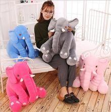 INS Elephant Pillow Child Plush Toy 28*30cm PP stuffed animal dolls elephant plush toy cushion lovely kids birthday gift