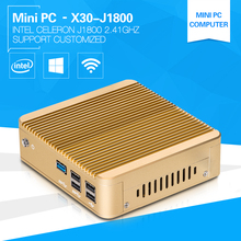 XCY Home Computer Dual-core PC J1800 2.4GHz Class Room Computer For Student Mini Computer 5 USB Aluminium Alloy case Fanless