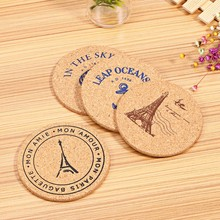 4 pcs/Set Green Tea Cup Mat Retro Style Cork Drink Coaster Coffee Cup Tea Pad Placemat Table Decoration(China)