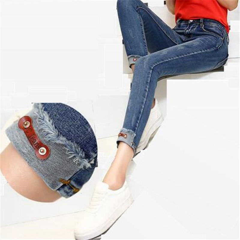 2017 New Spring Style Skinny Jeans Woman Street Style Patchwork Ripped Jeans Ladies Denim Pants Female Casual Pencil PantsОдежда и ак�е��уары<br><br><br>Aliexpress