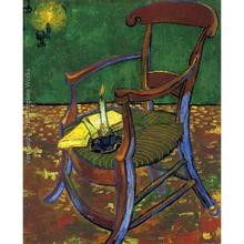 High quality Vincent Van Gogh paintings Gauguins Chair oil on canvas hand-painted Home decor(China)