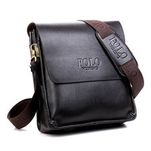 Hot Selling PU Leather POLO Men Messenger Bags Crossbody Bags Men's Travel Bags Fast shipping male shoulder business bag(China)