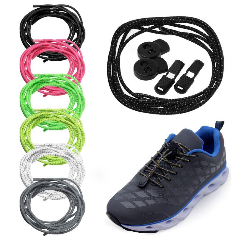Running Sport Shoelace Shoe LOCK LACES Elastic No-Tie Shoelaces Strings